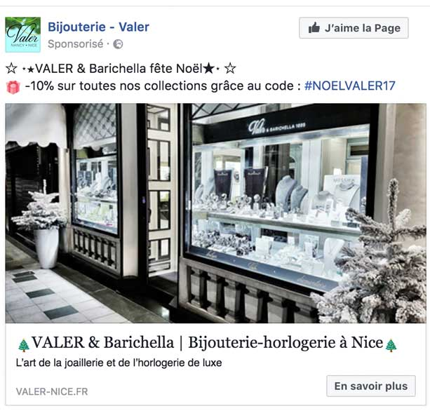 Campagne webmarketing Valer Nice