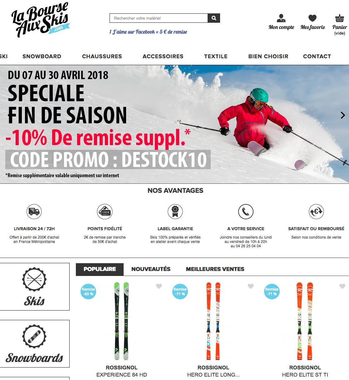 La Bourse aux skis - site internet